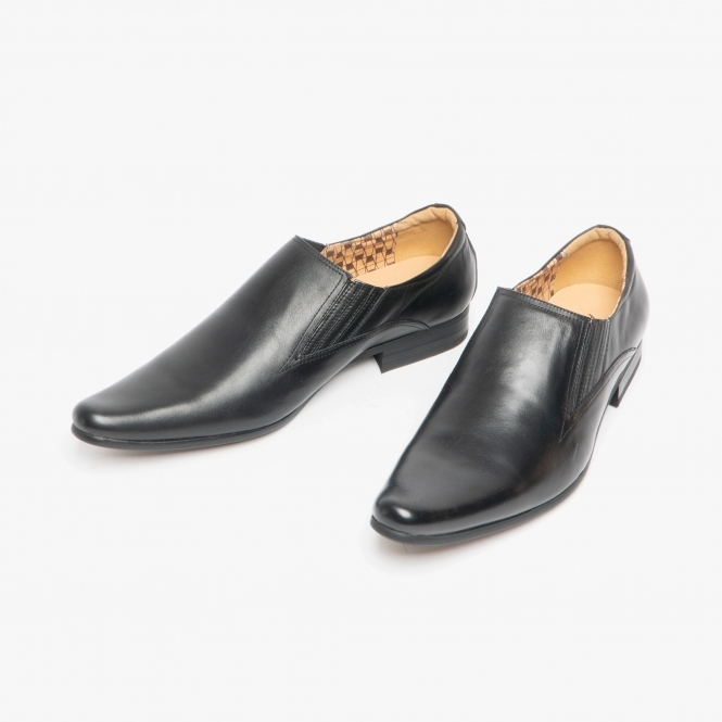 Front ENZO Mens Leather Slip On Pointed