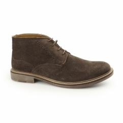 HOUSTON Mens Suede Leather Chukka Boots Brown