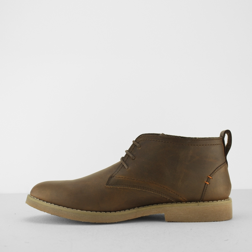 b5d54f62258 RAVELLO Mens Leather Chukka Boots Brown