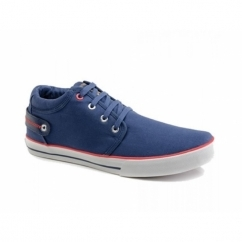 REEF Mens Canvas Lace-Up Deck Shoes Blue