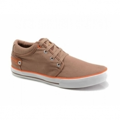 REEF Mens Canvas Lace-Up Deck Shoes Tan