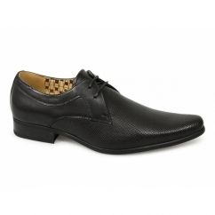 RIPLEY Mens Leather Perforated Lace-Up Shoes Black