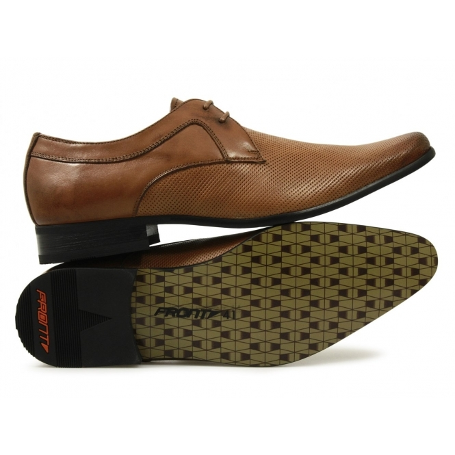 f6a4f2f2803 Front RIPLEY Mens Leather Perforated Lace-Up Shoes Tan