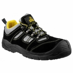 FS111 Unisex S1 P SRC Safety Trainers Black