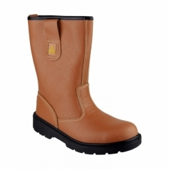 FS125 Unisex SB Rigger Safety Boots Tan