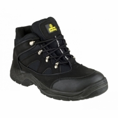 FS151 Unisex SB P SRA Steel Mid Safety Boots Black