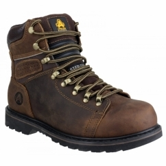FS157 Unisex Welted SB Safety Boots Brown