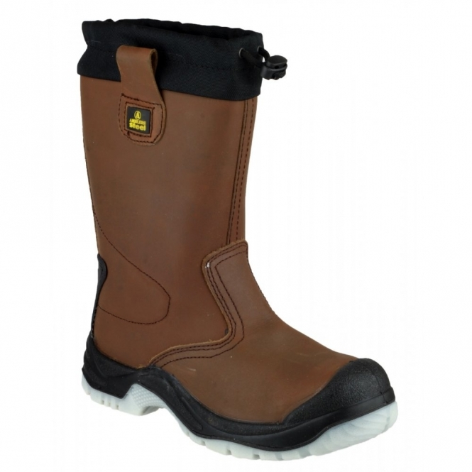 Amblers Safety FS219 Unisex S1 Rigger Safety Boots Brown