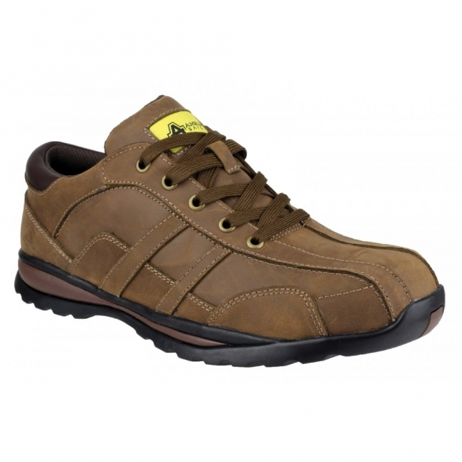 Amblers Safety FS53 Mens S1 Safety Trainers Brown