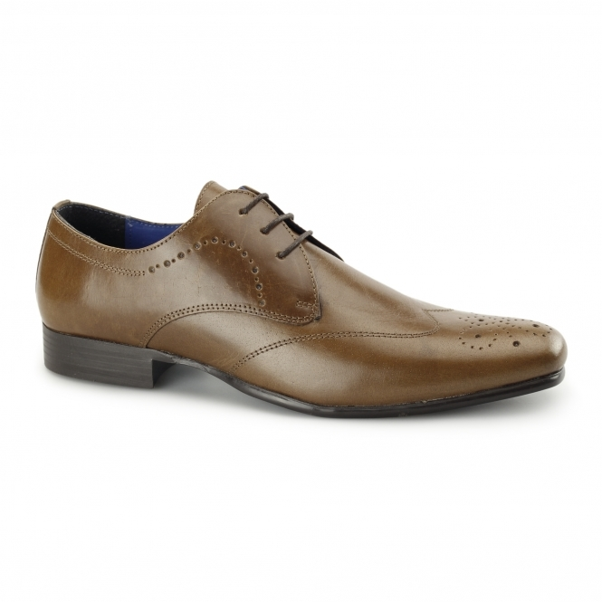 Red Tape GALA Mens Leather Chisel Toe Shoes Tan