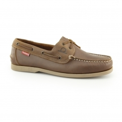 Chatham GALLEY Mens Leather Casual Deck Shoes Walnut