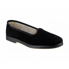EVA Ladies Corduroy Slippers Black
