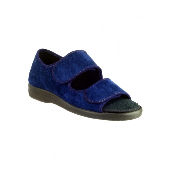 GBS Med BROMPTON Unisex Medical Open Toe Slippers Navy