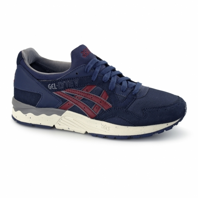Asics GEL-LYTE V Mens Trainers Navy/Burgundy