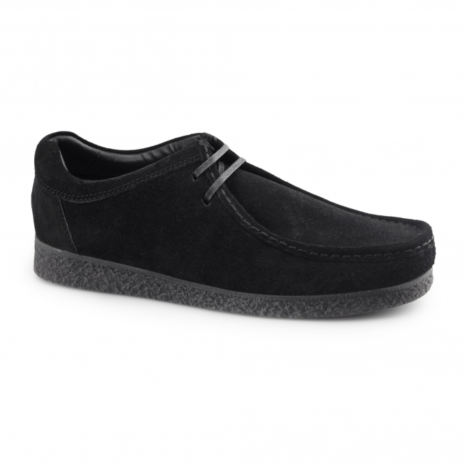 Base London GENESIS Mens Suede Leather Moccasin Shoes Black