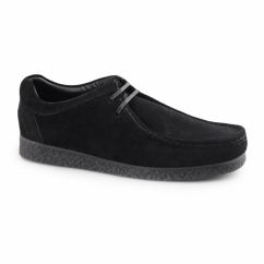 GENESIS Mens Suede Leather Moccasin Shoes Black