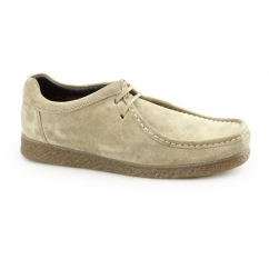 GENESIS Mens Suede Leather Moccasin Shoes Taupe