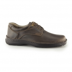GEOGRAPHY LACE Mens Leather Derby Shoes Brown