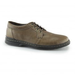 GEORGE HANSTON Mens Leather Derby Shoes Brown
