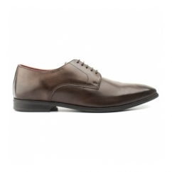 GEORGE Mens Waxy Leather Derby Shoes Cocoa