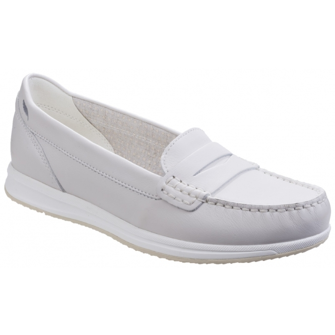 GEOX AVERY C Ladies Leather Casual Penny Loafers Off White ...