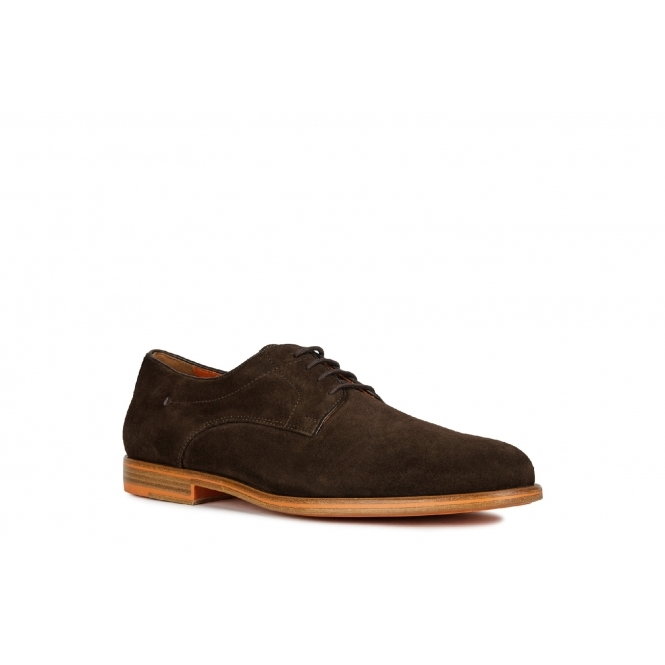 Colibrí retroceder Campaña  GEOX BAYLE Mens Suede Derby Shoes Brown | Shuperb