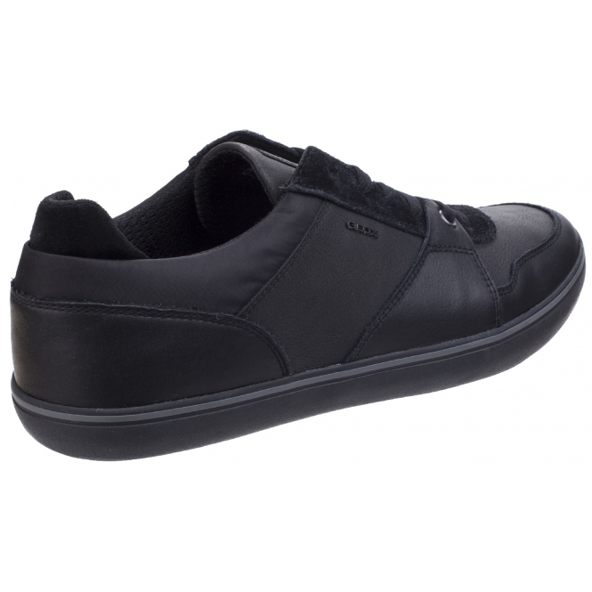 BOX Mens Leather Lace Casual Shoes Black