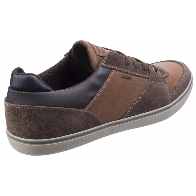 GEOX BOX Mens Leather Lace Casual Shoes
