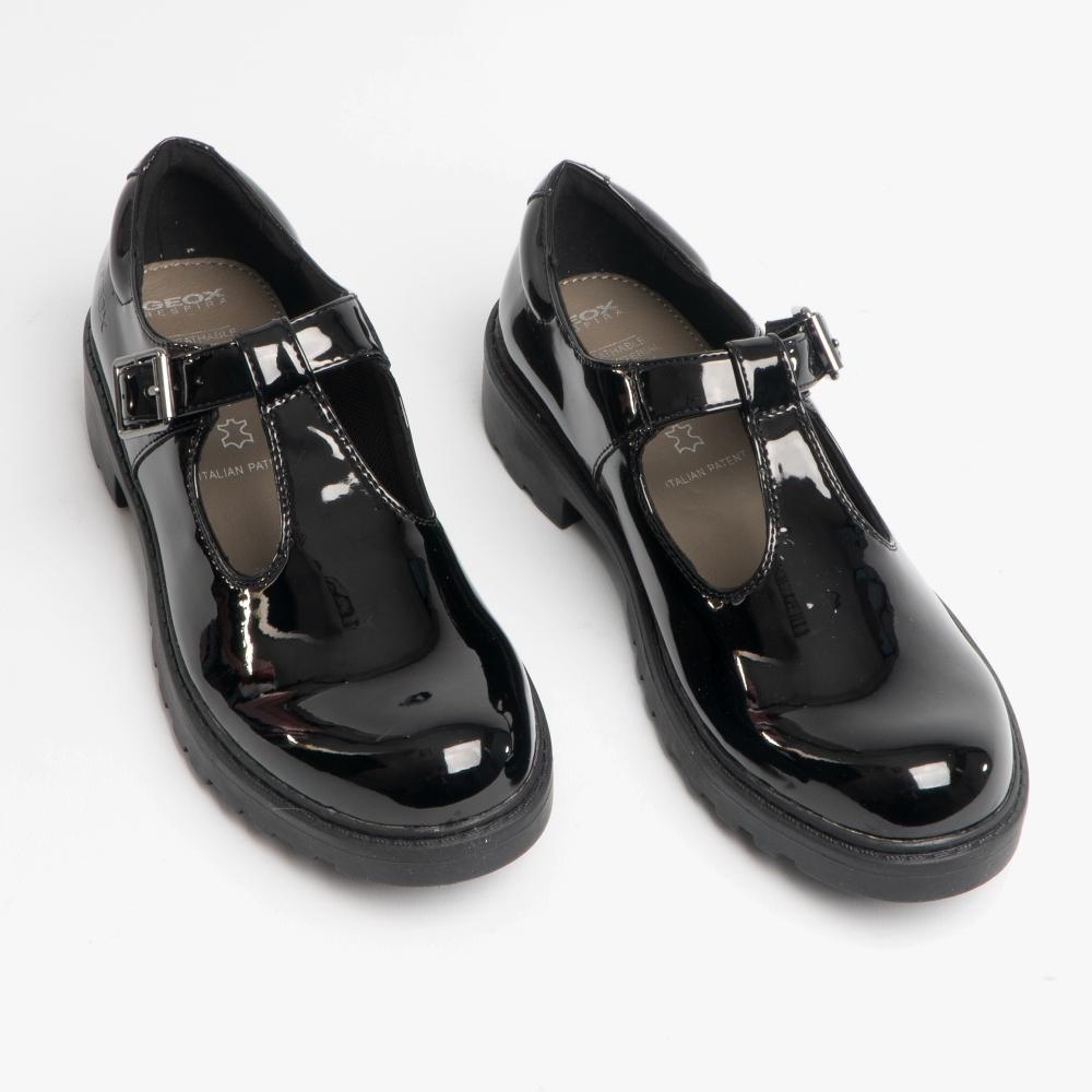 Geox CASEY Girls T-Bar School Shoes in