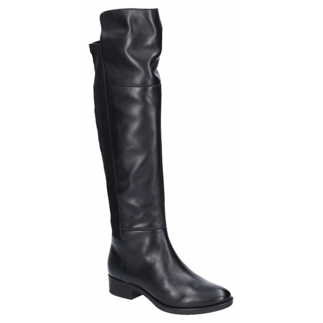 e0f8823047 GEOX FELICITY Ladies Leather Over The Knee Boots Black | Shuperb
