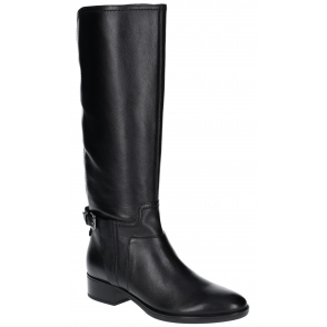 ab9e77243dd3d GEOX FELICITY Ladies Leather Tall Boots Coffee | Shuperb