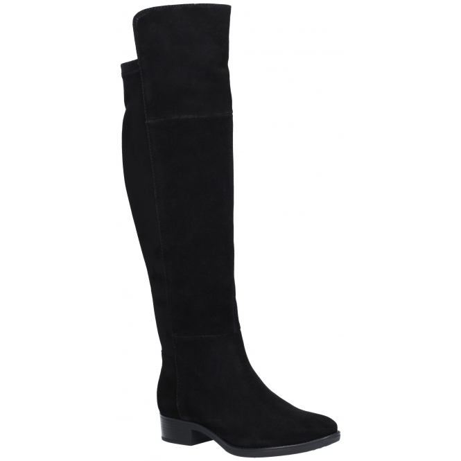 624e06d038 GEOX FELICITY Ladies Suede Over The Knee Boots Black | Shuperb