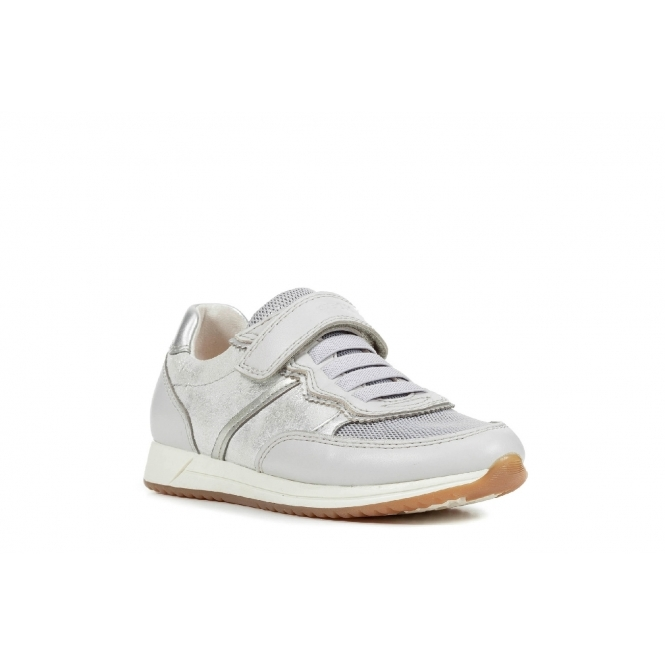 JENSEA Girls Touch Fasten Trainers Silver