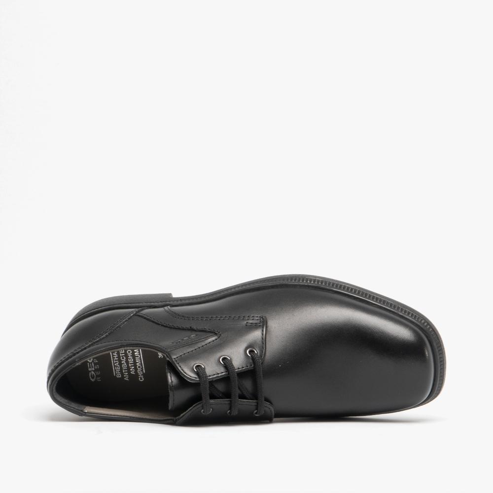 8dd55ab0 JR FEDERICO Boys Leather School Shoes Black