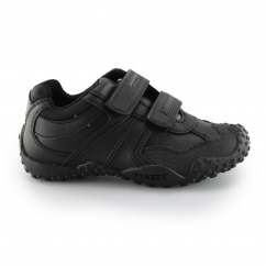 Geox JR GIANT Boys Touch Fasten School Shoes Black