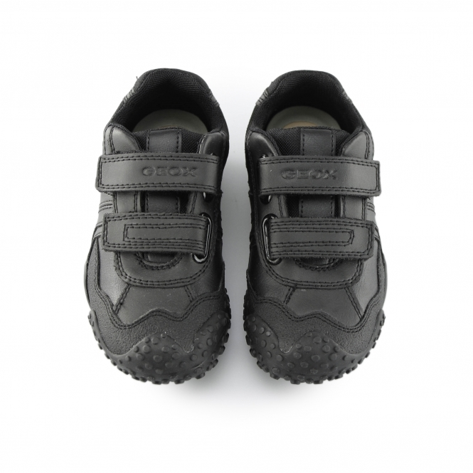 6b314bcb46 Geox JR GIANT Boys Touch Fasten School Shoes Black