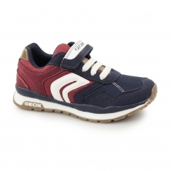 JR PAVEL Boys Touch Fasten Trainers Navy/Red