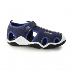 JR WADER Boys Mesh Touch Fasten Sandal Navy/Royal