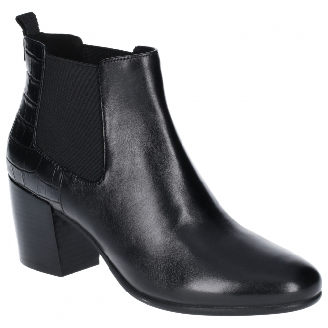 LUCINDA Ladies Leather Ankle Boots Black