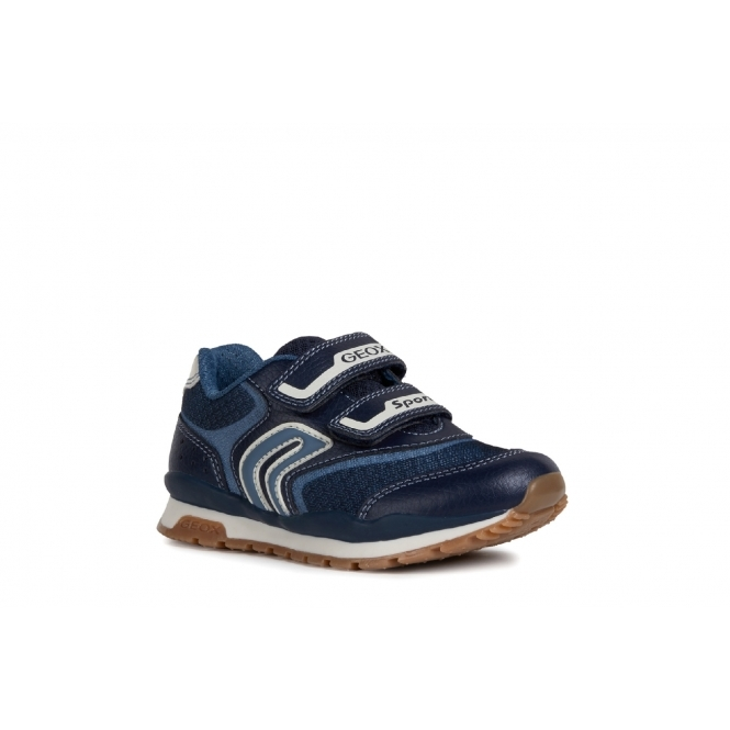 75e03a9918a5d GEOX PAVEL Boys Touch Fasten Trainers Navy/Avio   Shuperb