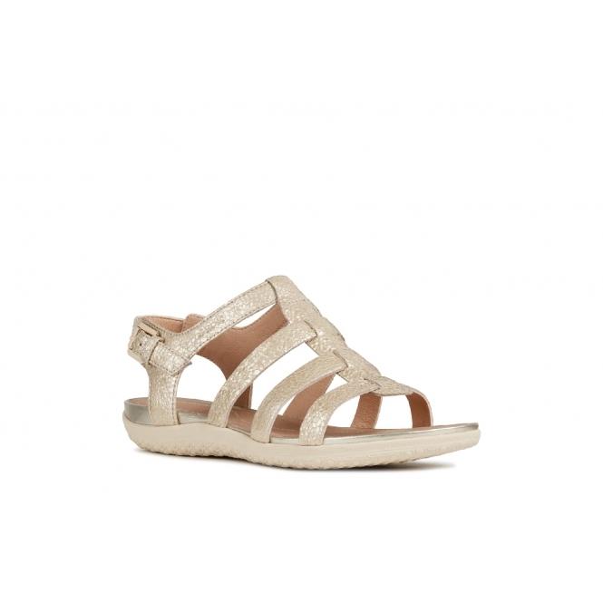 Light Sandals Sand Ladies Geox Leather Strappy vega Gold wOikuPZTX