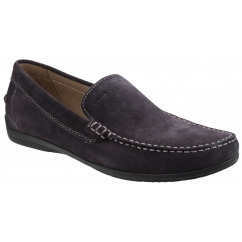 GEOX SIMON C Mens Suede Leather Comfort Loafers Coffee