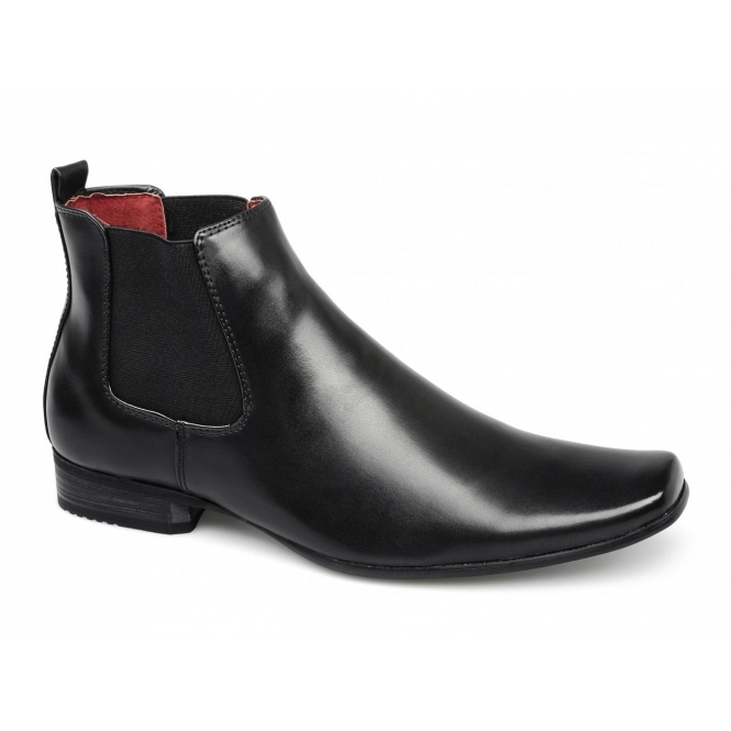 Giovanni TRAPATONI Mens Gusset Chelsea Boots Black