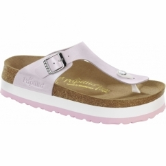 GIZEH Ladies Platform Toe Post Sandals Graceful Rosa