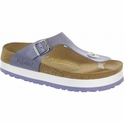 GIZEH Ladies Platform Toe Post Sandals Lavender