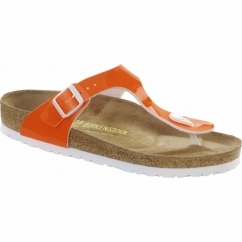 GIZEH Ladies Toe Post Sandals Neon Orange