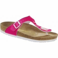 GIZEH Ladies Toe Post Sandals Neon Pink