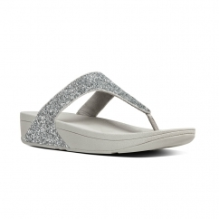 GLITTERBALL™ Ladies Shimmer Toe Post Sandals Silver