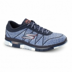 GO FLEX WALK - ABILITY Ladies Lace Up Trainers Navy/Blue