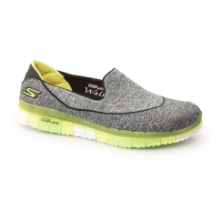 GO FLEX WALK Ladies Slip-On Trainers Black/Lime